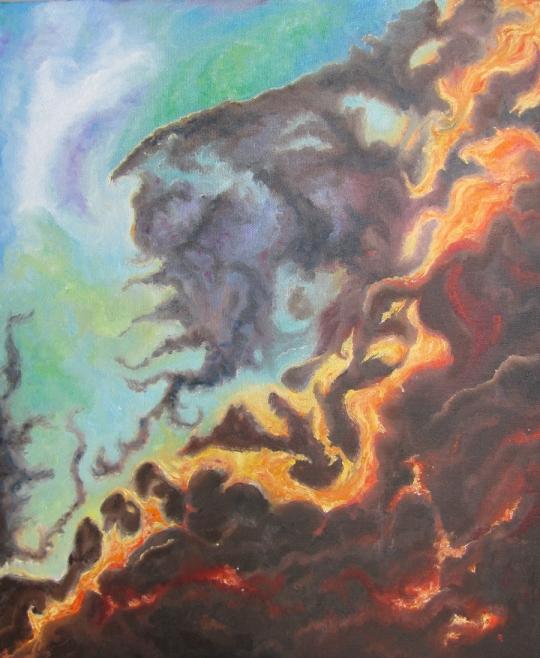 """Nebula 1"" 20x24"" oil on canvas by artist Joyce Brandon Large painting"