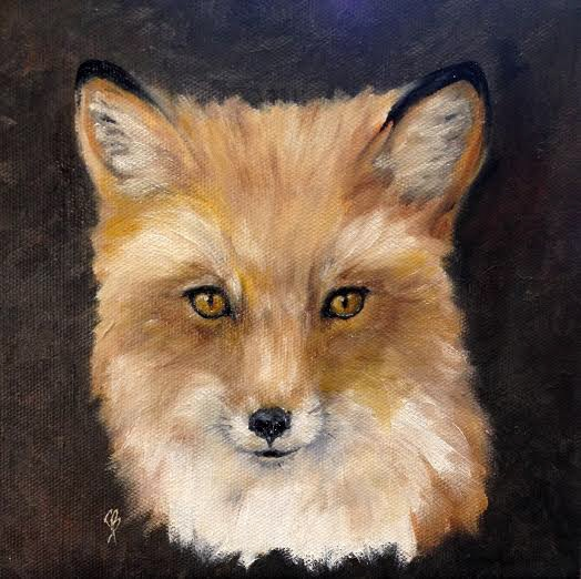 La Belle Renard - The Beautiful Fox - is a completed oil painting by Joyce Brandon.