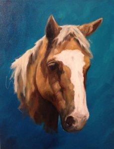 oil painting portrait work in progress