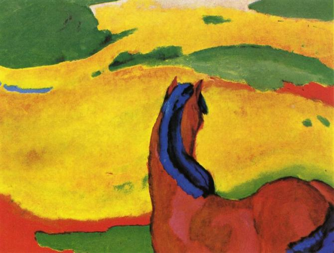 Franz Marc horse-in-a-landscape-1910